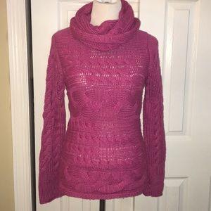 Banana Republic Cowl Neck Sweater Small Pink EUC